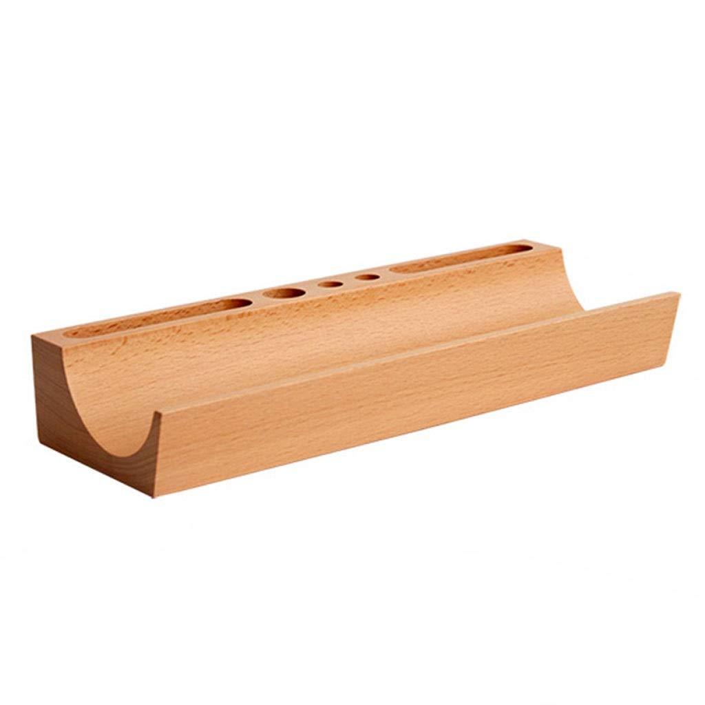 LIXMZZWJ Hölzerner Büro-Desktop-Speicher-Regal, Massivholz 1-2 Tier Organizer Schere Brille Einheit rechteckigen Bleistift modernen Stil für Home Standard Stifthalter natürlich (Farbe   Natürlich) B07NWKJWVC | Günstige