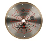 8 wet cutting blade - QEP 6-8008BW 8-Inch Black Widow Micro-Segmented Rim Diamond Blade, 5/8-Inch Arbor, Wet Cutting, 7640 Maximum RPM