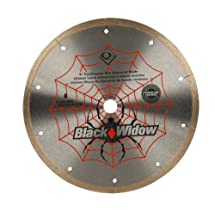 QEP 6-8008BW 8-Inch Black Widow Micro-Segmented Rim Diamond Blade, 5/8-Inch Arbor, Wet Cutting, 7640 Maximum RPM