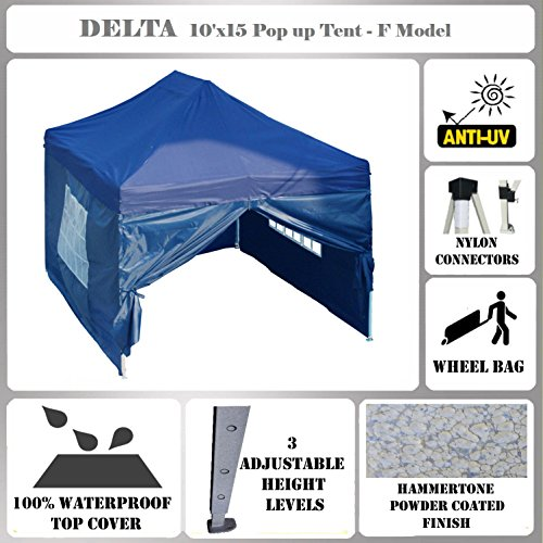 Cheap 10'x15′ Pop up Canopy Wedding Party Tent Gazebo EZ Navy Blue – F Model Commercial Frame By DELTA Canopies