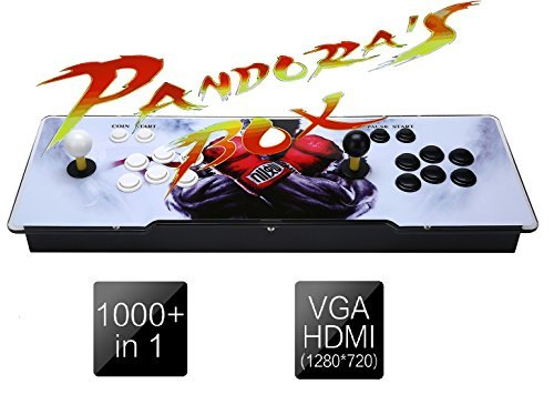 YoungGo 1388 Classic Arcade Game Machine 2 Players Pandoras Box 5s 1280x720 Full HD Video Game Console with Arcade Joystick Support HDMI VGA (Arcade Video Game)