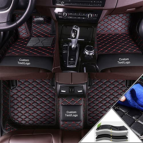 Custom Car Floor Mats Customizable 95% car Model All Weather Waterproof Non-Slip Full Covered Protection Advanced Performance Liners Car Liner Black Red