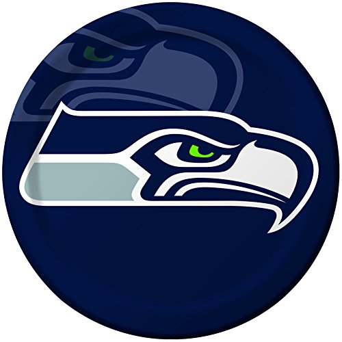 Creative Converting 8 Count Seattle Seahawks Paper Dinner Plates (Seattle Seahawks Lunch)