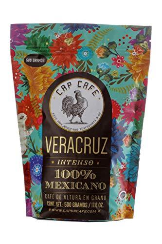 Cap Café, Grano Veracruz, 500 gramos, Café y chocolate semi - amargo