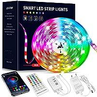 Beaeet Ruban Led 10M, Bande Led 5050 RGB , Led Ruban Lumineuse Flexible Multicolore avec Télécommande 40 Touches,Utilisé...
