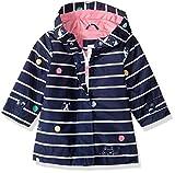 Carter's Baby Girls Her Favorite Rainslicker Raincoat, Navy Stripe, 18M