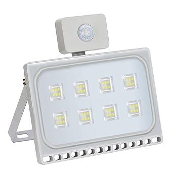 LTPAG Focos LED Exterior con Sensor de Movimiento, 220V 5000LM ...