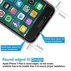 OMOTON iPhone 7 Plus Screen Protector [2 Pack]- [9H Hardness] [Crystal Clear] [Bubble Free] [3D Touch Compatible] Tempered Glass Screen Protector for Apple iPhone 7 Plus from OMOTON