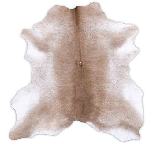 RODEO Sand Stone Calfskin Leather Rug