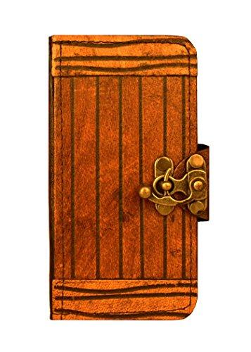 """A Little Present """", handgemacht, Vintage-Stil, Gravur"""" Line Leder-Schutzhülle, mit Schloss für iPhone 6, Braun"""