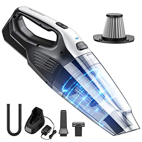 Holife HM446 7KPA Handheld Vacuum, 14.8V Portable Powerful Cyclonic Suction Hand Vacuum with Quick Charge, Lightweight Wet Dry Lithium Vac for Home Pet Hair Car Cleaning