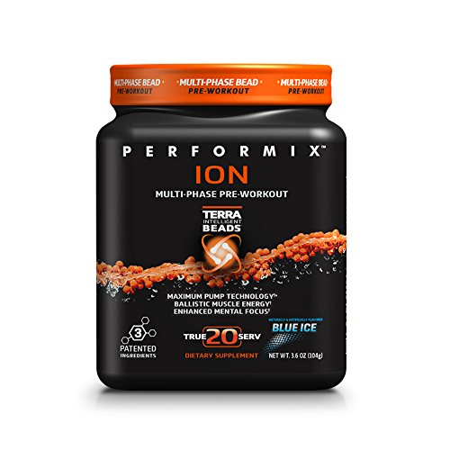 PERFORMIX ION MultiPhase PreWorkout, Maximum Pump Technology, Ballistic Muscle Energy, Enhanced Mental Focus, 20 Servings, Blue Ice