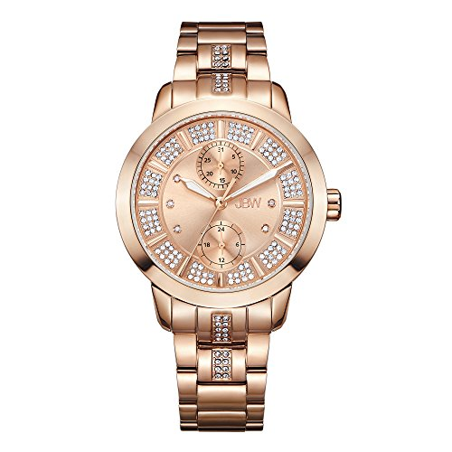 JBW Women's Lumen J6341E Rose Gold Multi-Function Diamond Watch