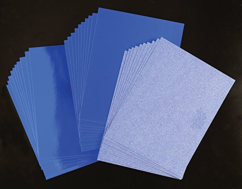 Crafter's Companion CP-LMIX-NBLU811 Mixed Card Pack- Navy Blue Luxury Cardstock Crafter's Companion