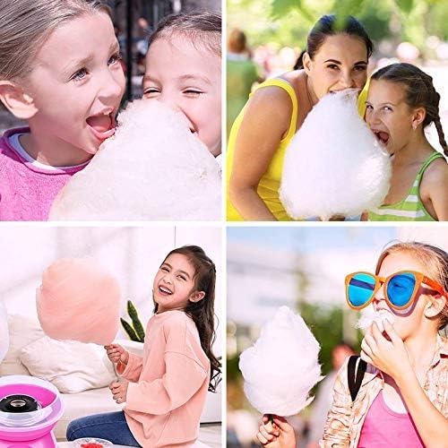 QWQ Zucchero Filato Makers, Cotton Candy Macchina Macchina Cotone Elettrico della Famiglia di DIY Dolce Cotton Candy Maker Ragazza del Ragazzo Scherza Il Regalo A