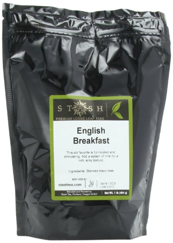 Stash Tea English Breakfast Loose Leaf Tea, 16 Ounce