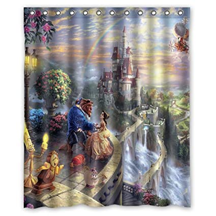 Amazon LIBIN Scottshop Custom Beauty And The Beast Shower