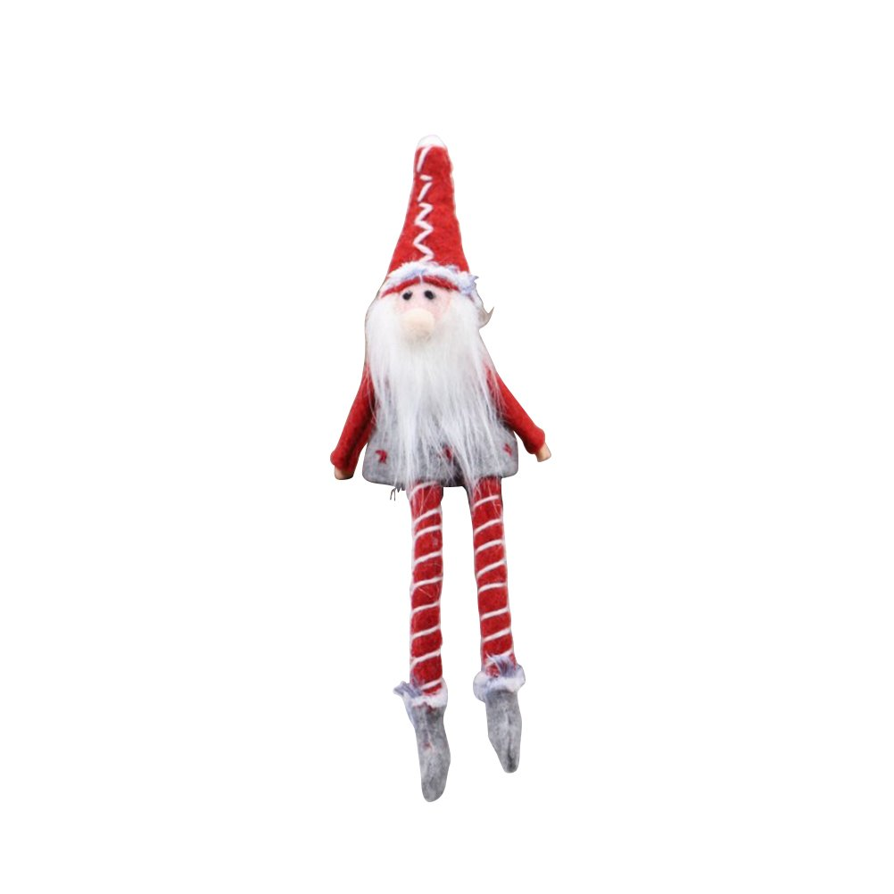 VORCOOL Christmas Standing Figurine Toy Xmas Home Indoor Table Ornament Decorations Great Gift (Small Size Sitting Man)
