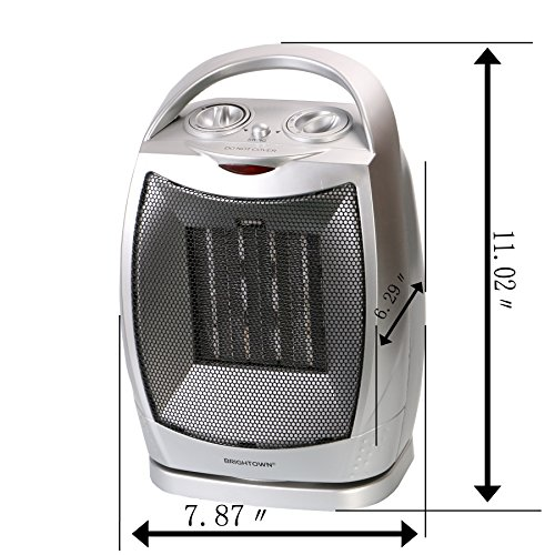 Space Heater 750w 1500w Etl Listed Oscillating Quiet Ceramic Heater With Adjustable Thermostat