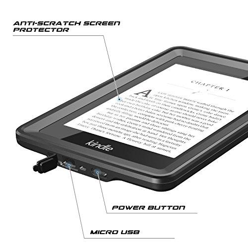 Temdan Kindle Paperwhite Waterproof Case Rugged Sleek Transparent Cover with Built in Screen Protector Waterproof Case for Kindle Paperwhite. by Temdan (Image #3)'