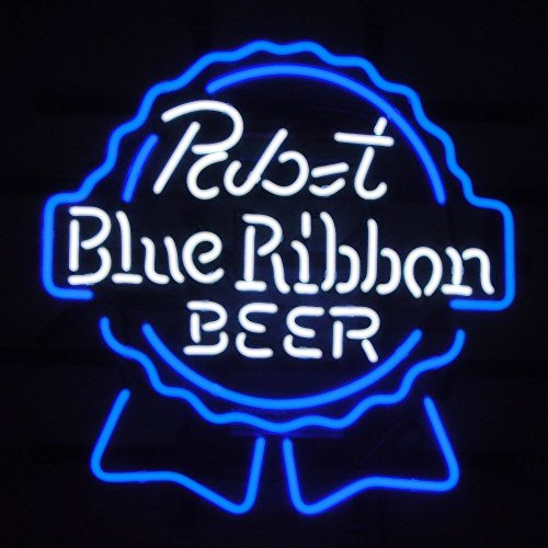 Pabst Blue Ribbon Beer Bar Handcrafted Neon Light Sign 19x15 by NeonLightSign