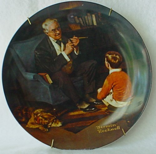 Norman Rockwell Tycoon Plate
