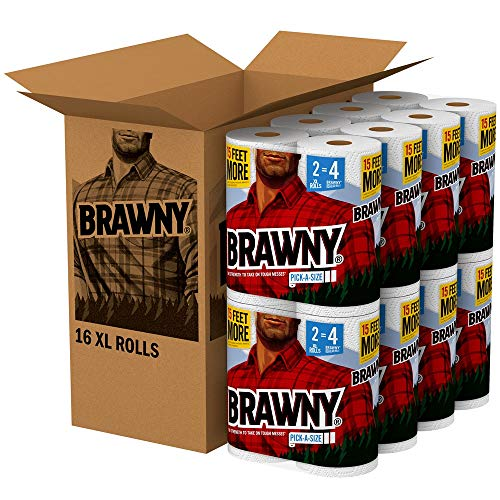 Large Product Image of Brawny Paper Towels, 16 XL Rolls, Pick-A-Size, White, 16 = 32 Regular Rolls