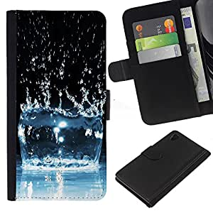 Ihec-Tech / Flip PU Cuero Cover Case para Sony Xperia Z4 - Water Effect Splash