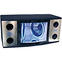Pyle PLBN122 Dual 12 2 Way 1200 Watt Bandpass w/Blue Woofer Rings