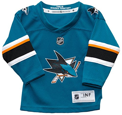 NHL by Outerstuff NHL San Jose Sharks Infant Replica Jersey-Home, Turquoise, Infant 12-24 months