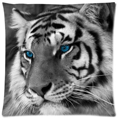 Tiger Beautiful Design Cushion Case Throw Pillow Covers 18x18 inch (one side) top-life