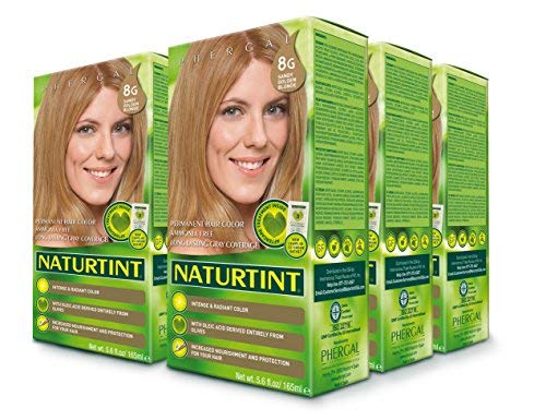 Naturtint Permanent Hair Color - 8G Sandy Golden Blonde, 5.6 fl oz (6-pack)