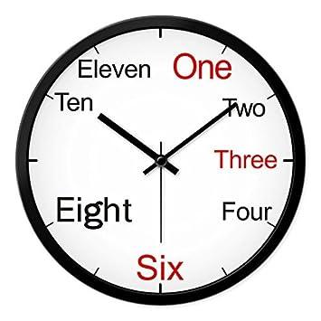 Amazon.de: DIDIDD Clock-kreative Büro Wanduhr Quarz Wanduhr Englisch ...