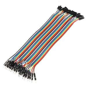 40 unidades de cables de puente para Arduino de 20 cm, macho a hembra