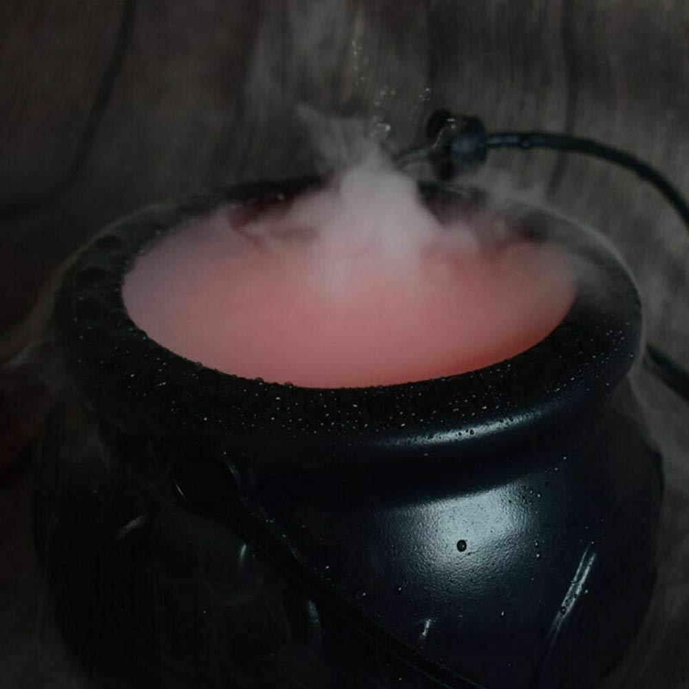 ZHONGYU Halloween Cauldron 12 LED Machine /à Brouillard Humidificateur de Couleur Changeante Hexenbrautopf