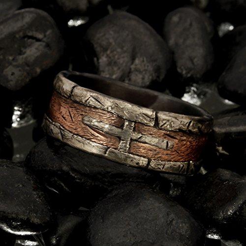 Rustic mens ring, Unique men's ring, Mens Wedding Band,