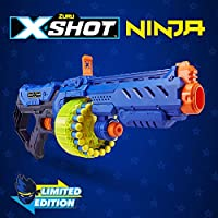 XShot Ninja Turbo Strike Foam Dart Blaster (48 Darts, 1 Dog-Tag, 3 Practice Cans) Limited Edition by ZURU
