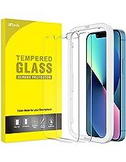 JETech Schermbeschermer Compatibel met iPhone 13/13 Pro 6,1-Inch, Gehard Glas Screen Protector met Eenvoudig te Installeren Gereedschap, 2-Stuks