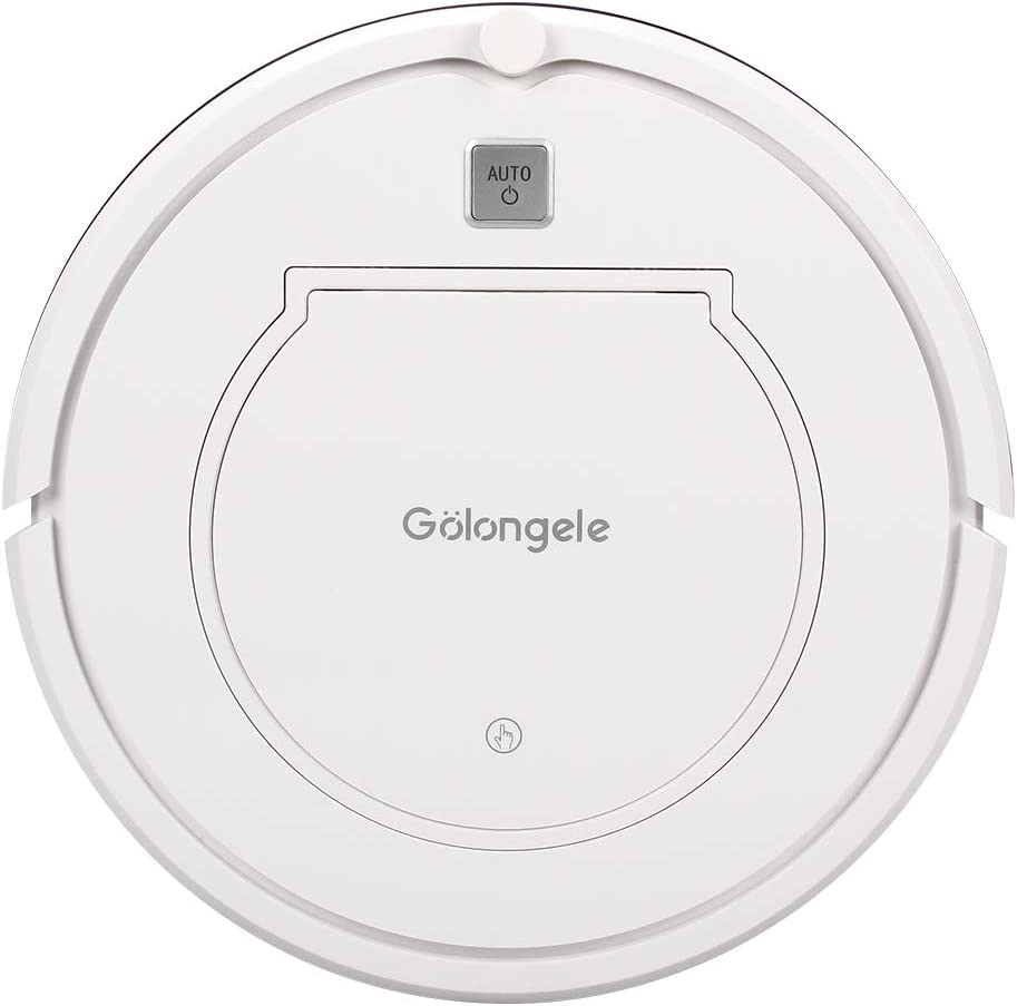 Golongele Automatic Robot Vacuum Self-Charging Cleaner with Dock Station, Robotic Auto Home Cleaning for Carpet Hardwood Floor, HEPA Filter Pet Hair Allergies Friendly
