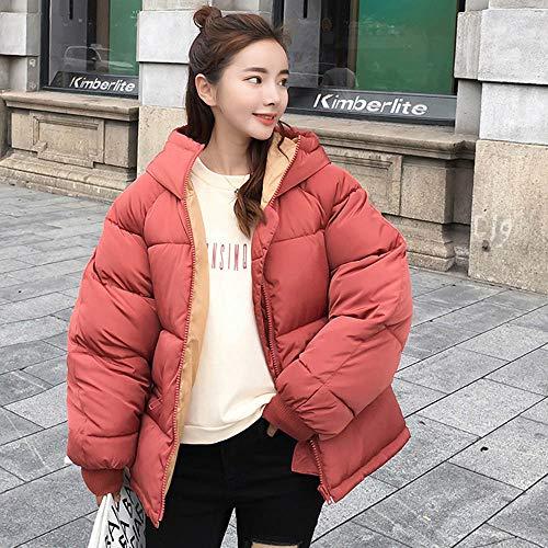 Tuta con cappuccio lunga cotone rosso a in impermeabile in donna per Amuster manica donne peluche Giacca le e da AwOEx