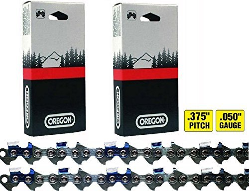 2 Pack, Oregon 72LGX072G (For 20' Bar) Chainsaw Chain Loops, 72 Drive Links Each, .375' Pitch x .050'Gauge, Replaces Stihl...