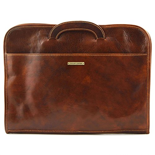 Leather Brown Tuscany Document briefcase Sorrento Tuscany Leather Brown Leather X0Fx7w0z