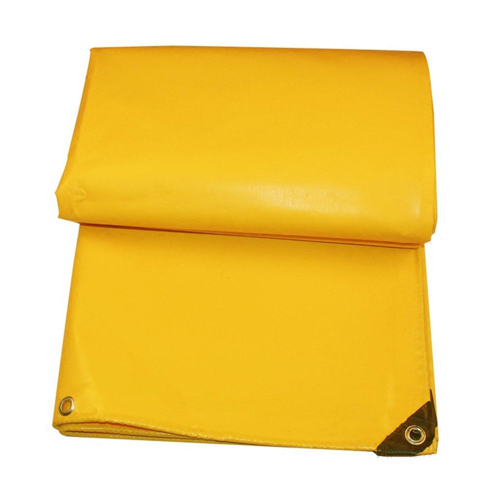 ZEMIN オーニング サンシェード ターポリン 日焼け止め 防水 シート テント ルーフ 防風 暖かい かなり ポリエステル、 黄、 600G/7サイズあり (色 : イエロー いえろ゜, サイズ さいず : 4X6M) B07D12TN7H 4X6M|イエロー いえろ゜ イエロー いえろ゜ 4X6M