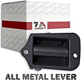 10 door handle - 1996-2003 Chevy S-10 Rear Third Door Handle, Left Side Stronger Metal Lever Upgrade, Also Fits GMC Sonoma and Isuzu Hombre, Black Textured Finish T1A-15760310-M