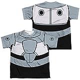 Youth: Teen Titans Go- Cyborg Uniform (Front/Back Print) Kids T-Shirt Size YM