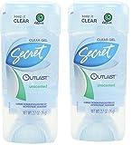 Secret Outlast Antiperspirant/deodorant, Clear Gel, Unscented, 2.7 (2 Pack)