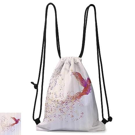 Amazon.com: Yoga backpack Phoenix Decor with Pink Purple ...