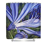Pixels Shower Curtain (74'' x 71'') ''Agapanthus''