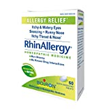 Image of Boiron Rhinallergy Homeopathic Medicine for Allergy Relief, 60 Count