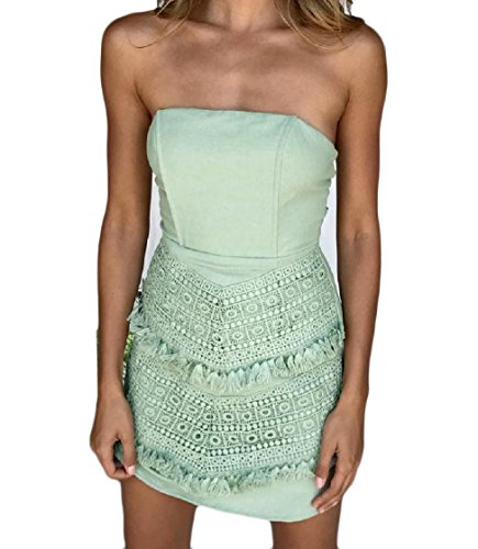 Pattern1 Tube Mini Strappy Dress Women Coolred Sexy Stitch Backless Floral Lace wInvgq